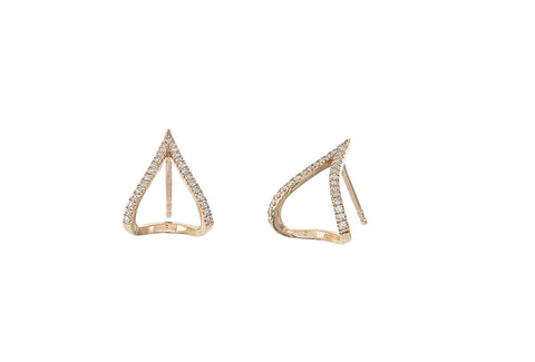 Open A-Line Pave Studs