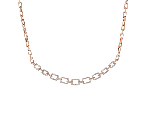 Pave Open Cable Link Necklace