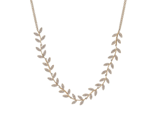Diamond Fern Necklace