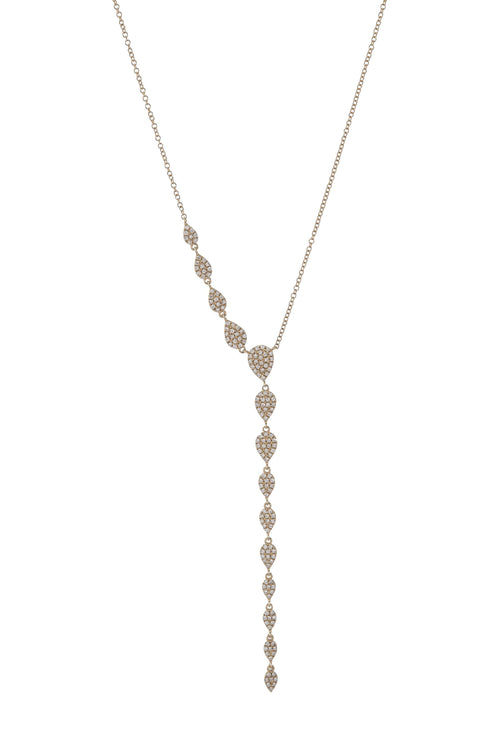 Pave Diamond Teardrop Lariat