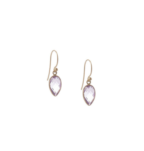 Amethyst Inverted Teardrop Earrings