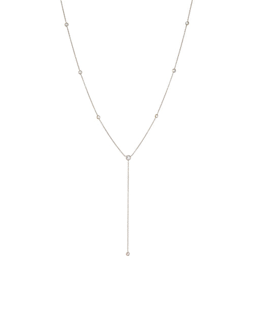 White Topaz By The Yard Lariat