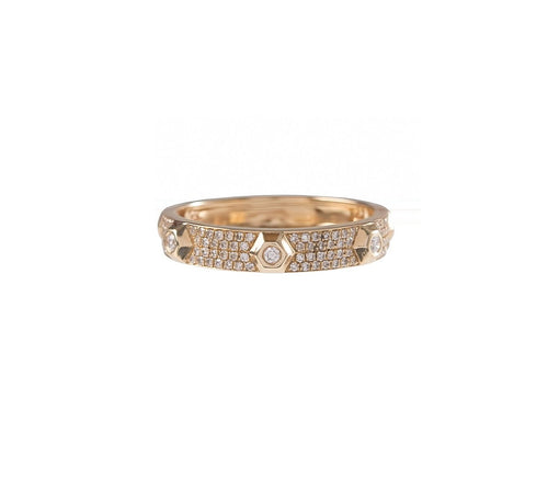 Pave Screw Head Ring