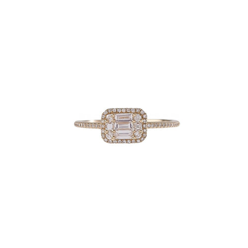 Multi Shape Diamond Rectangle Ring