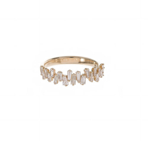 Staggered Baguette Diamond Ring