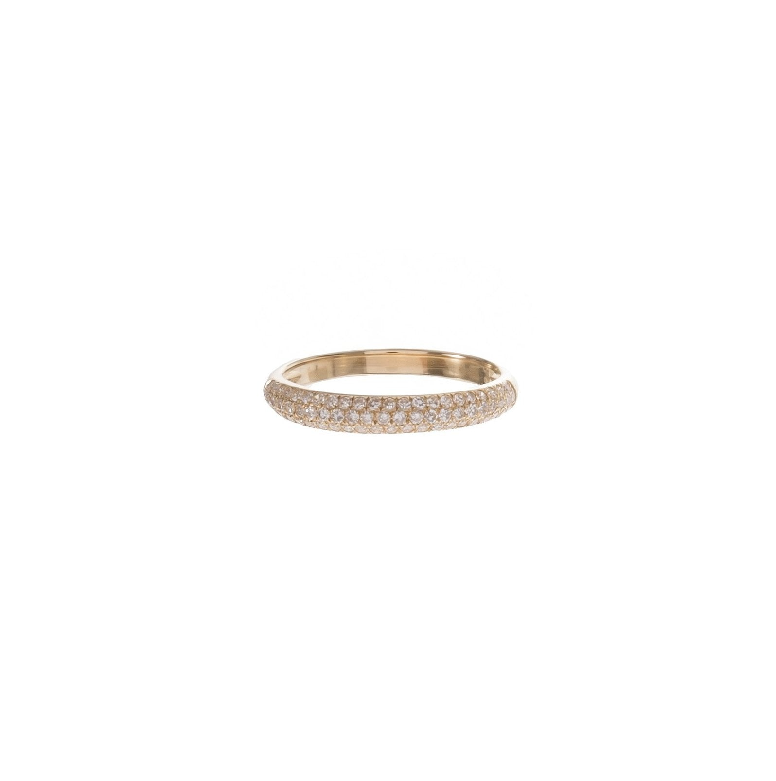 3-Row Pave Dome Ring