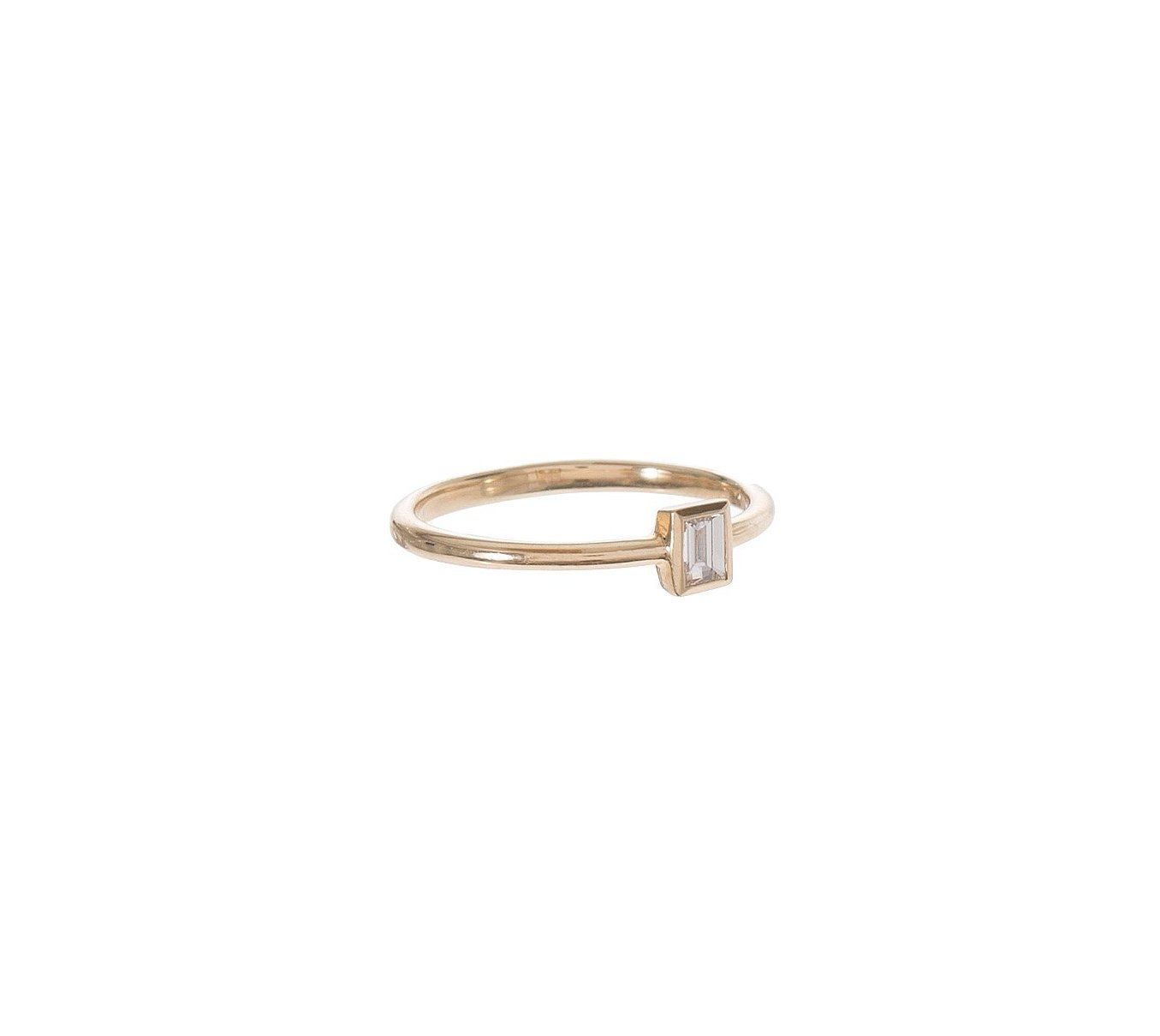 Baguette Diamond Solitaire Ring