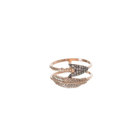 Double Row Arrow Ring
