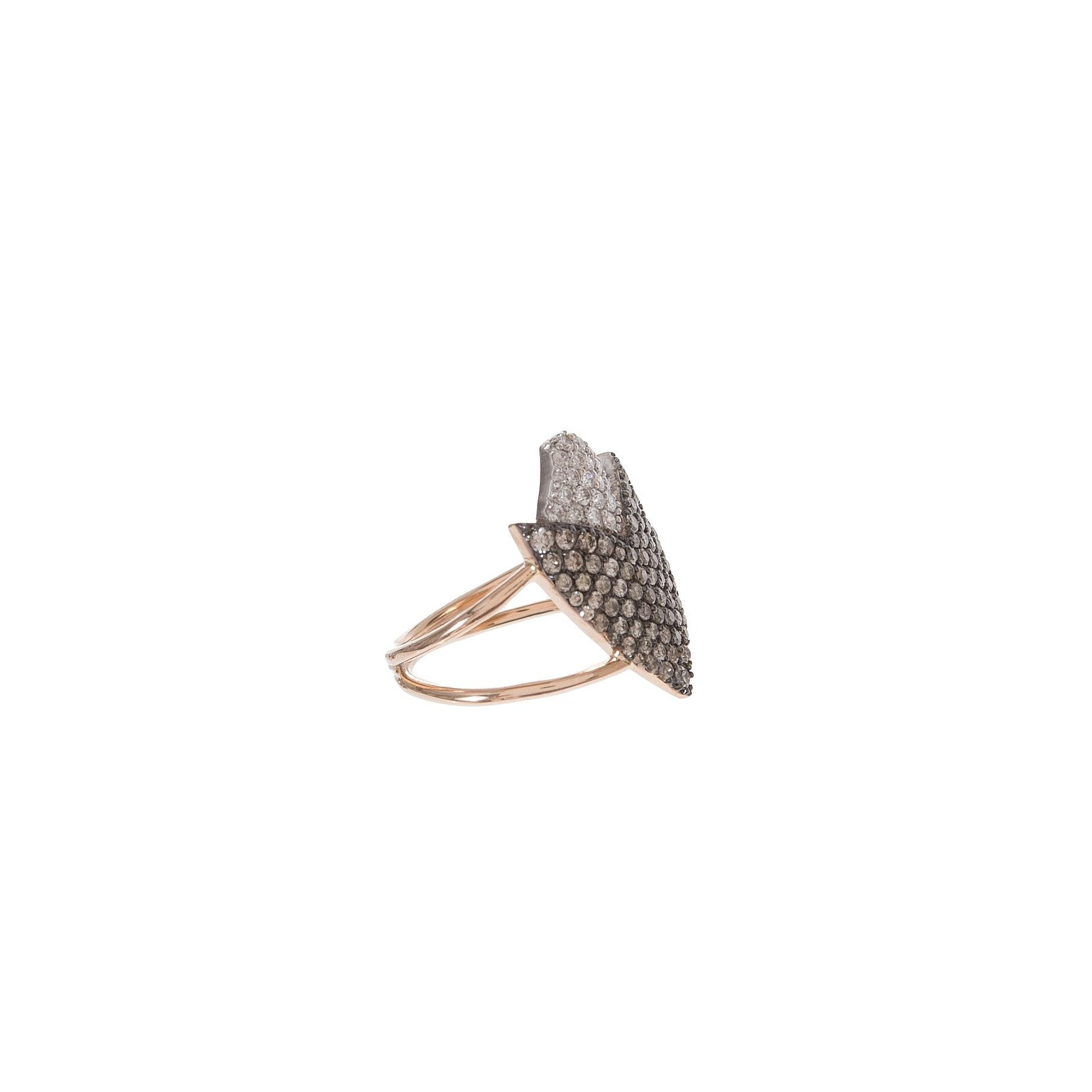 Two-Tone Arrowhead Ring