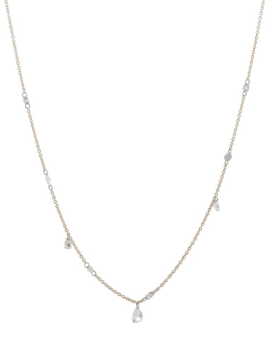 Multi Floating Diamonds Necklace