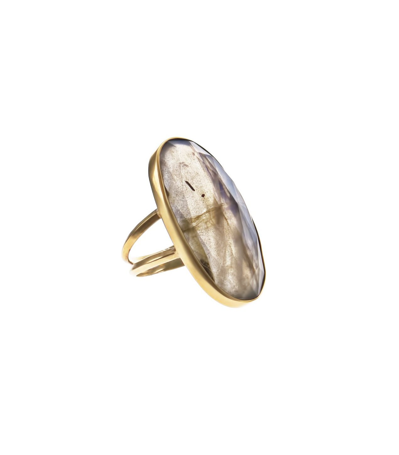 Oval Labrodite Ring