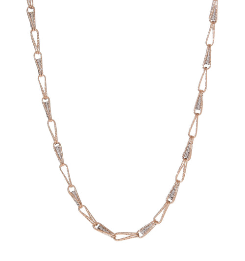 Sparkly Two-Tone Links Choker