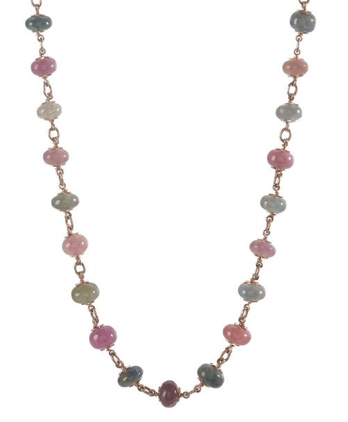 Multi-Color Sapphire Beaded Necklace