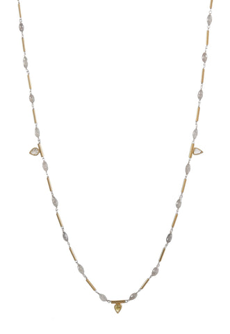 Gray Diamond Briolette Necklace