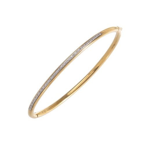 Diamond Bar Steel Bangle