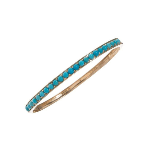 Turquoise Oval Bangle