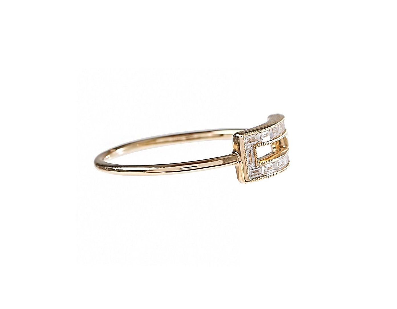 Open Baguette Rectangle Ring