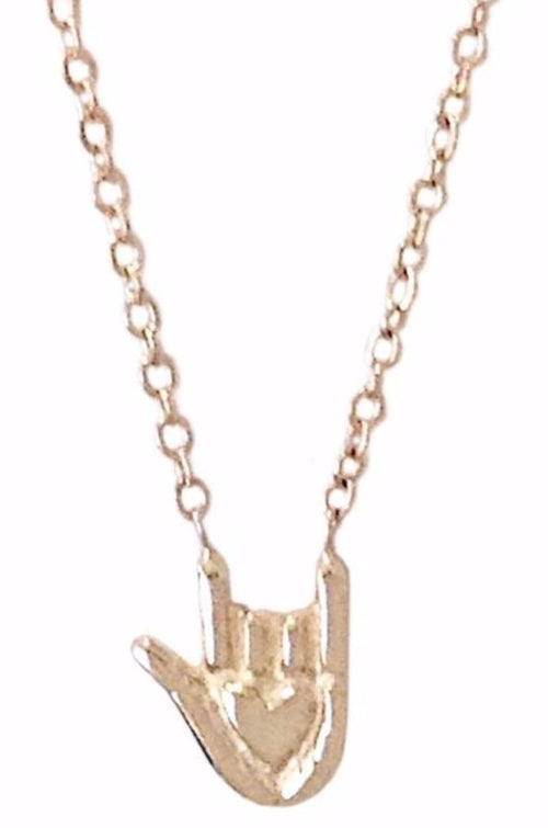 'I Love You' Hand Sign Necklace