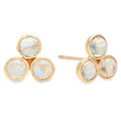 Rainbow Moonstone Trio Studs