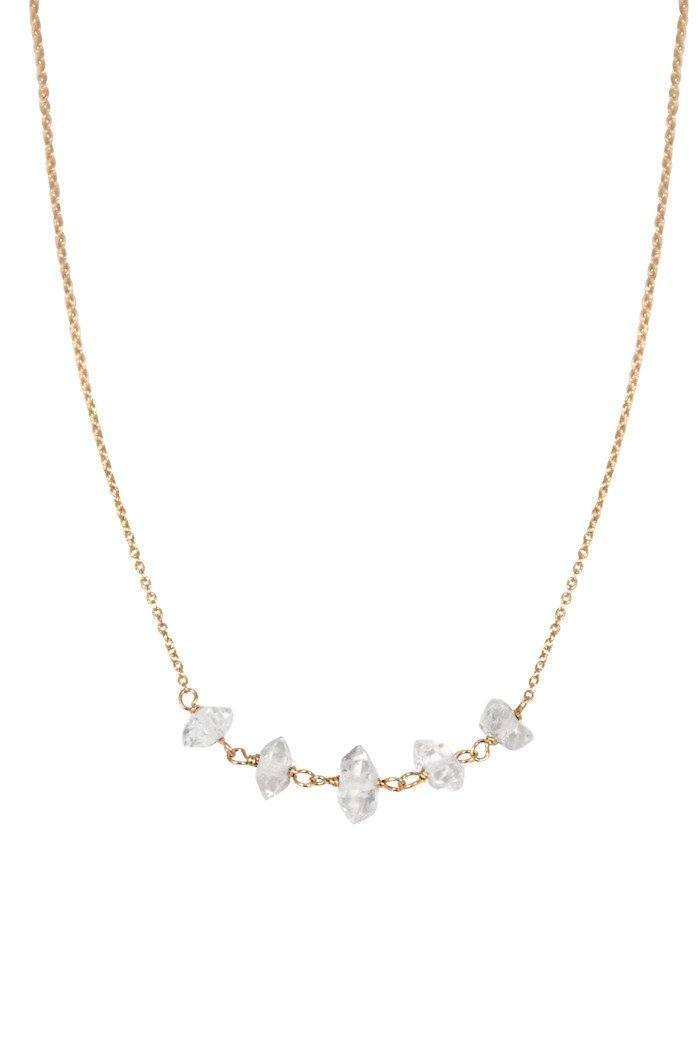 Multi Herkimer Diamond Necklace