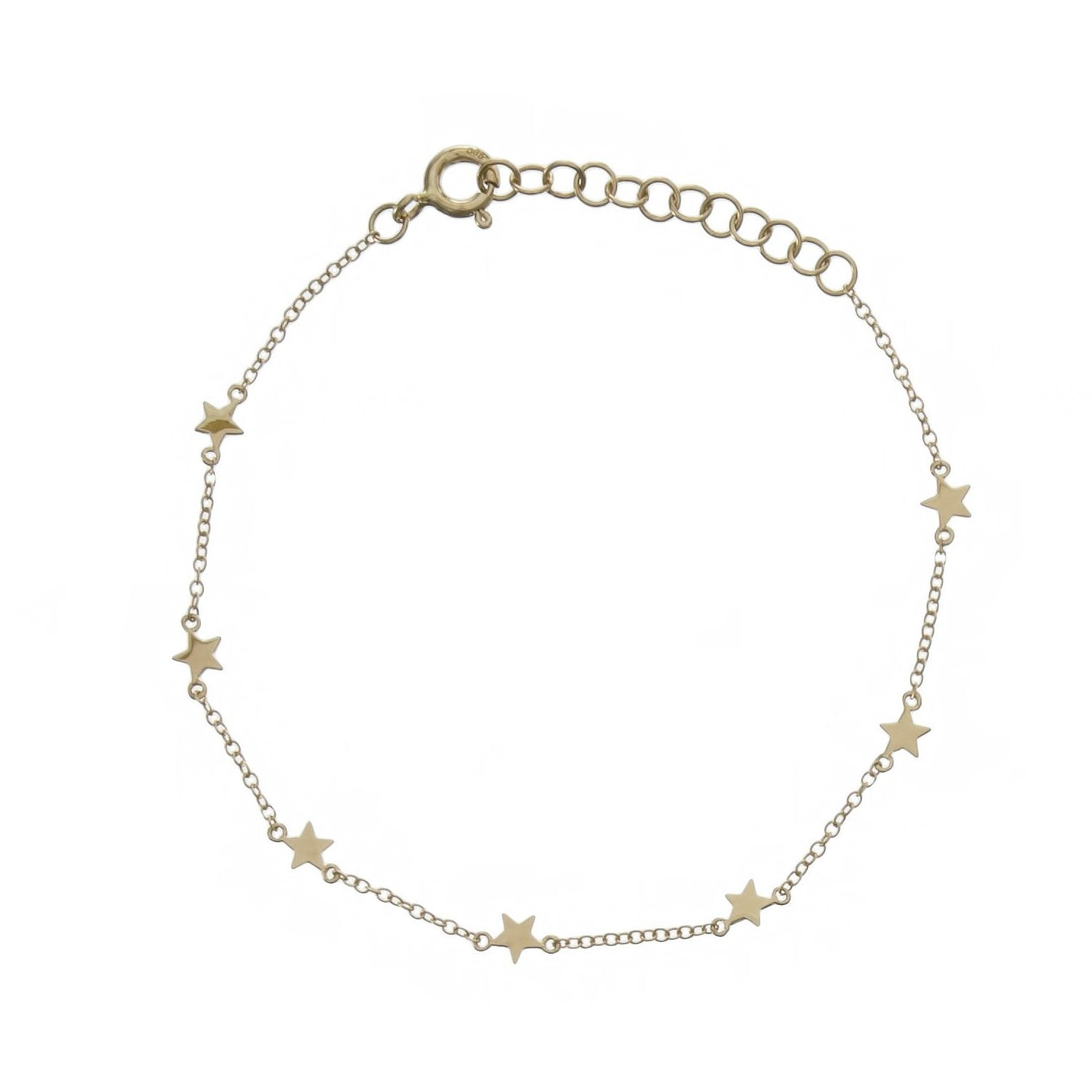 Gold Multi Stars Chain Bracelet