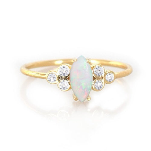Opal & Diamond Mystic Ring
