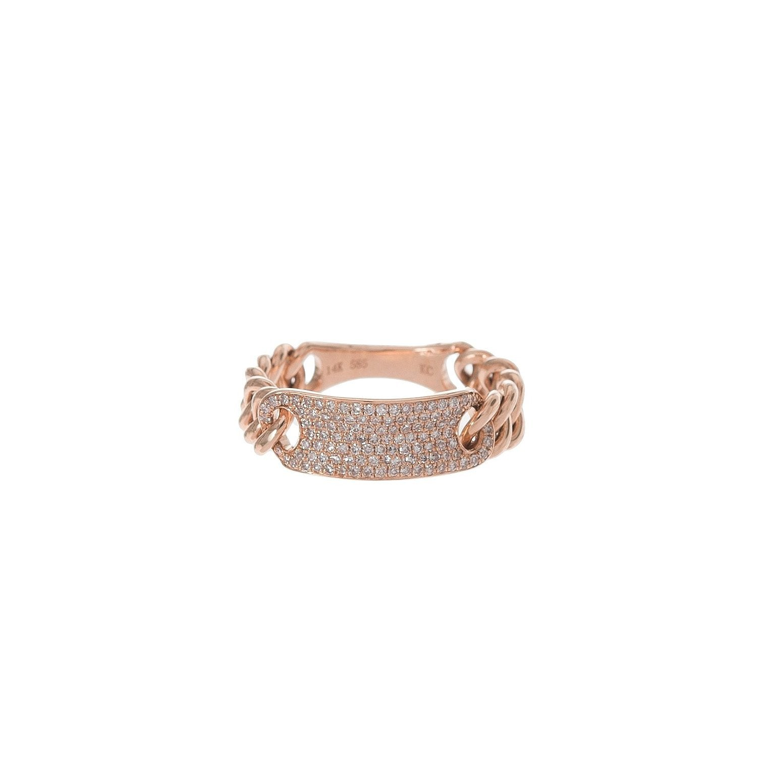 Pave ID Chain Ring