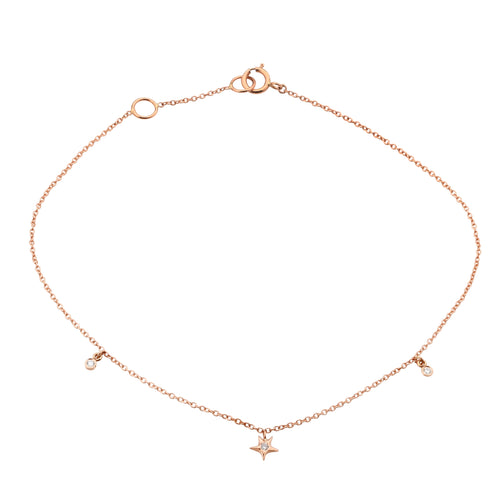 Diamond Star Dangle Anklet