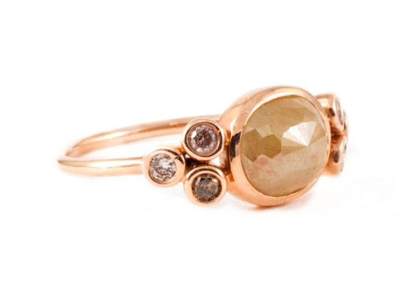 Brown & Champagne Diamond Ring
