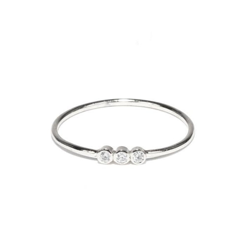 Trio Bezel Stacking Ring