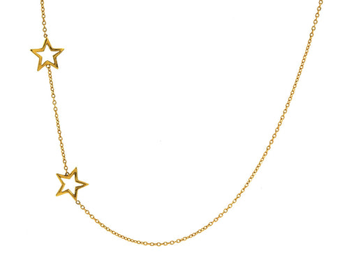 2 Star Necklace