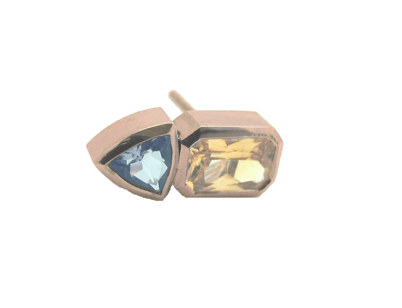 natural diamond in black sapphire a gold image earrings and stud jewellers grahams yellow