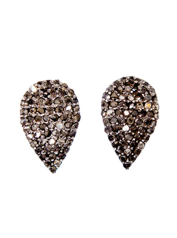 Pave Diamond Tear Studs