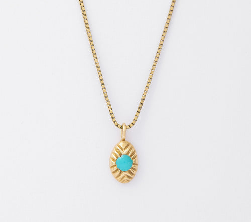 Turquoise Seedling Necklace