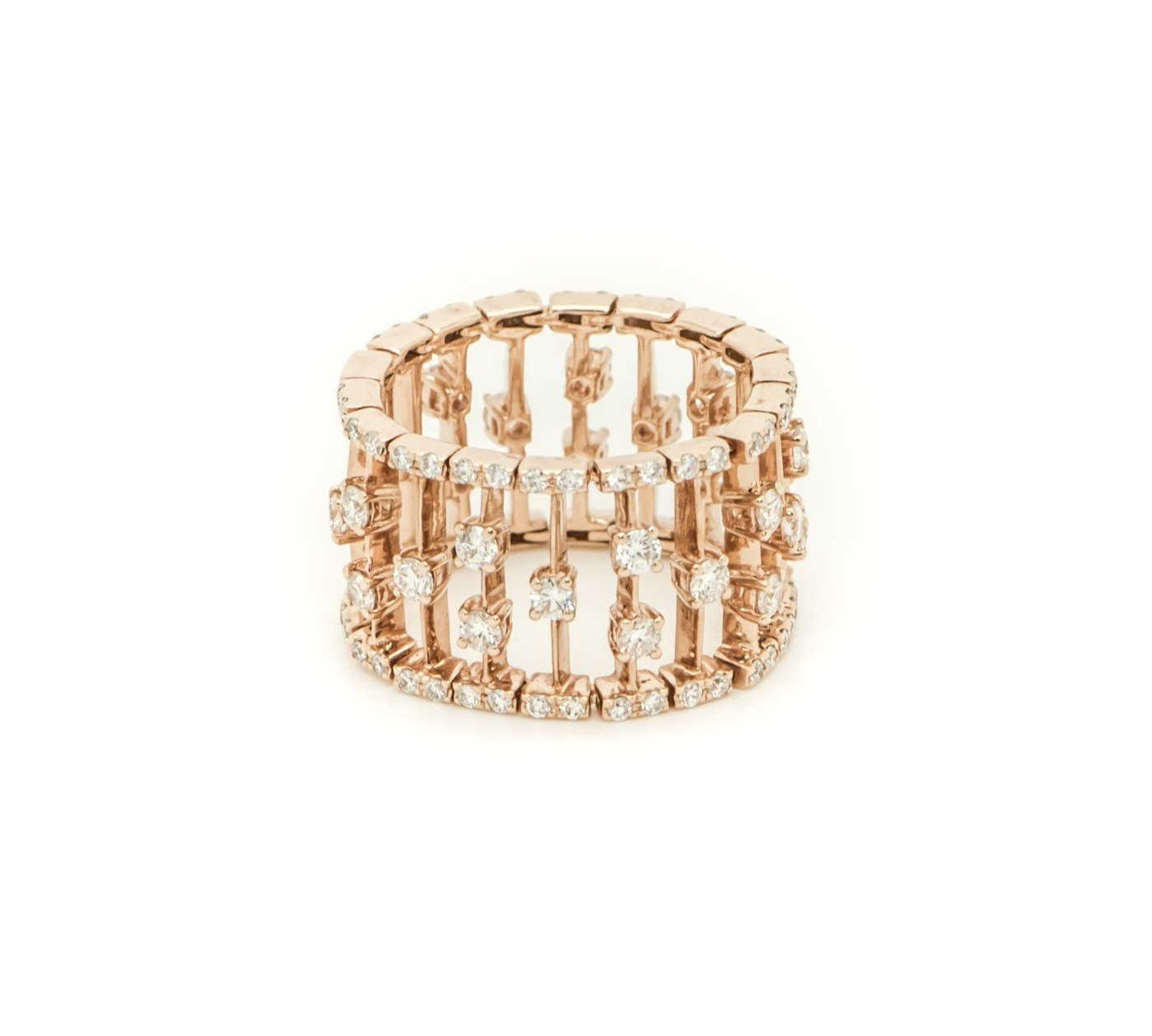 Diamond Fence Ring