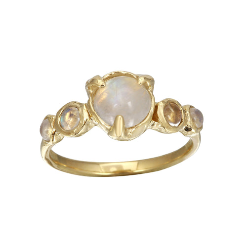 Five Bezel Moonstone Ring