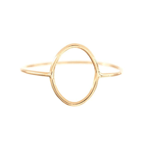 Oval Silhouette Ring