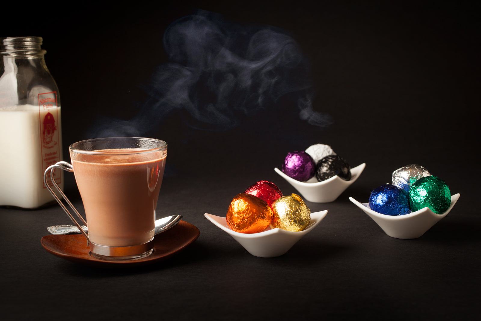 Hot Chocolate Balls, Unwrap, heat in the microwave for real hot chocolate in under 2 minutes.