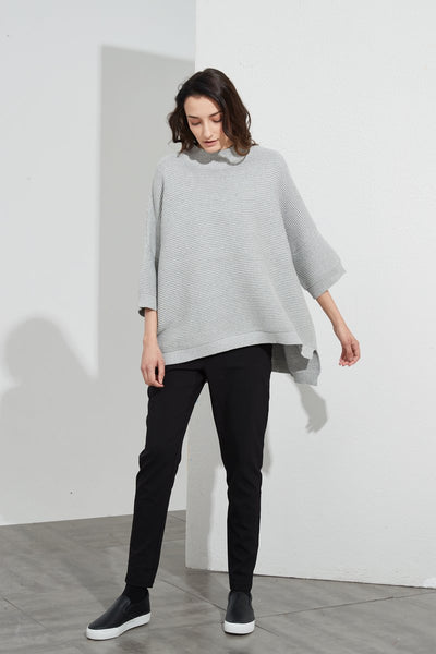 Cotton Rib Knit- Grey