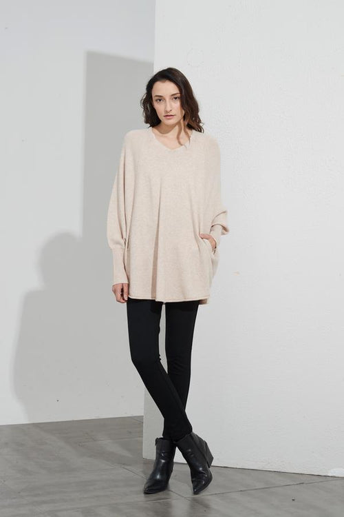 Oversized Pocket Knit- Champagne Pink