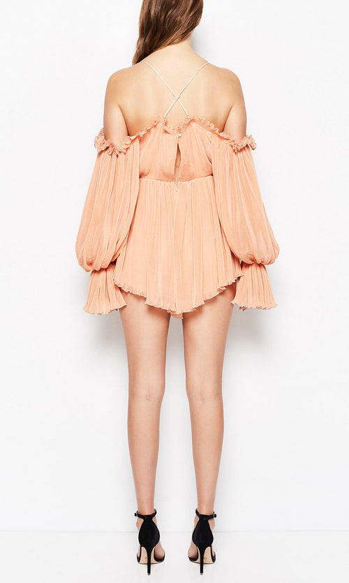 Shake For Me Playsuit- Apricot