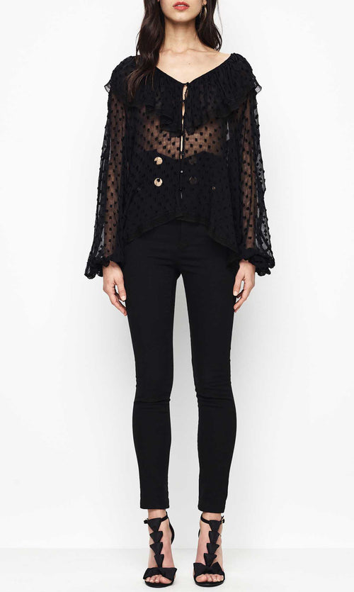 Now That You Got It Blouse- Black