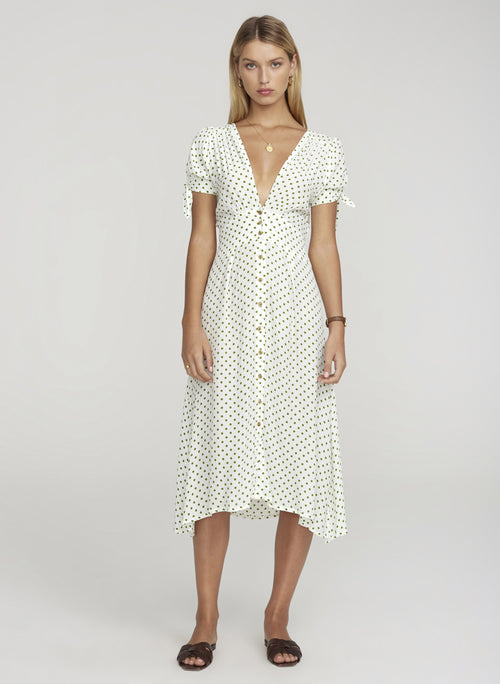 Billie Midi Dress- Lula Dot Print