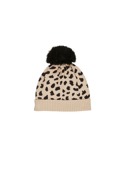 Knit Beanie- Animal Spot