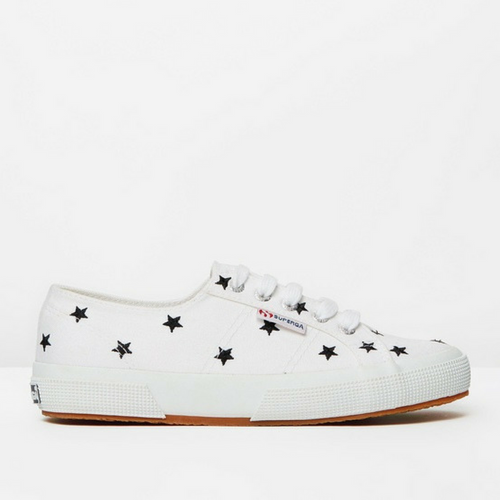 Superga Stars- White/Black
