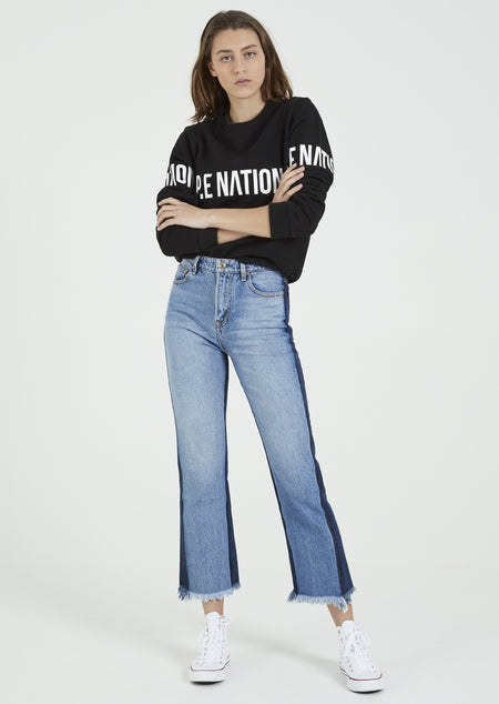 Ignition Cropped Tee- White