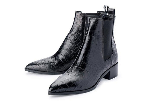 Carina Boot- Black Croc