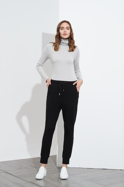 Drawcord Lounge Pant- Black