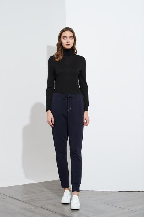 Drawcord Lounge Pant- Navy