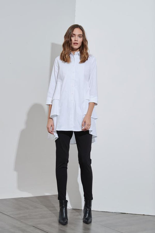 3/4 Triple Layer Shirt- White